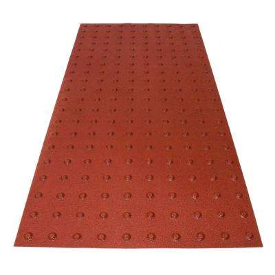 PowerBond 24 in. x 4 ft. Colonial Red ADA Warning Mat (Peel and Stick)