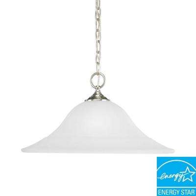 Trinity Collection 1-Light Brushed Nickel Pendant