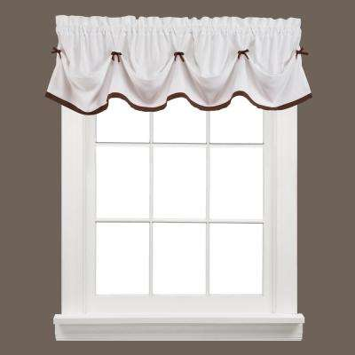 Kate 13 in. L Polyester Valance in Clove