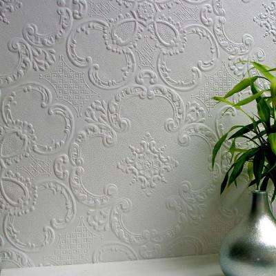 Alfred Paintable Supaglypta Vinyl Strippable Wallpaper (Covers 56.4 sq. ft.)