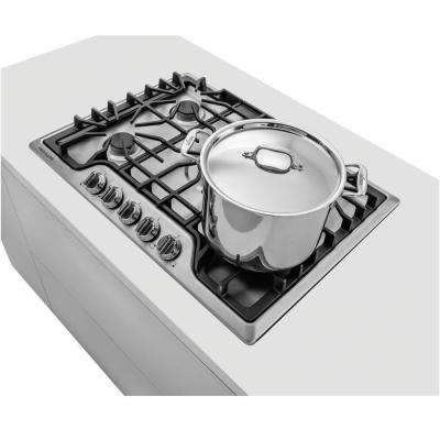 30 in. Gas Cooktop in Stainless Steel with 5 Burners