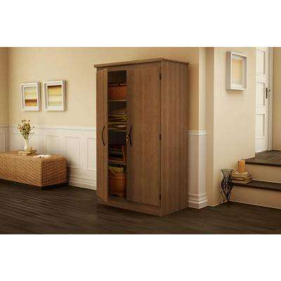 Morgan Laminated Particleboard Storage Cabinet with Shelves in Morgan Cherry