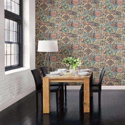 Multi Marrakesh Tiles Mosaic Wallpaper Sample