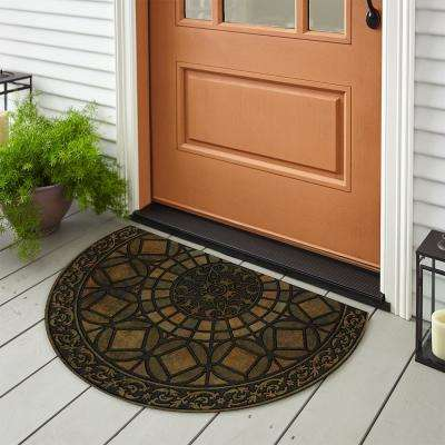 Gothic Iron Brown 23 in. x 35 in. Door Mat