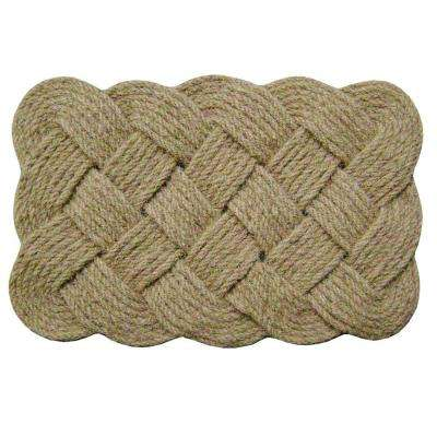 Rope Natural 22 in. x 36 in. Coir Door Mat