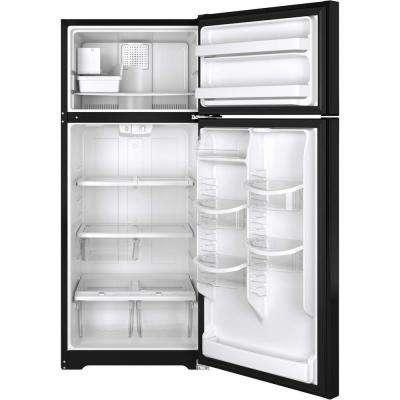 17.6 cu. ft. Top Freezer Refrigerator in Black, ENERGY STAR