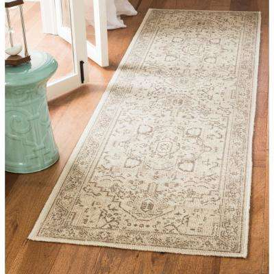 Essence Natural/Taupe 2 ft. x 8 ft. Runner Rug