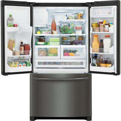 27.8 cu. ft. French Door Refrigerator in Smudge-Proof Black Stainless Steel