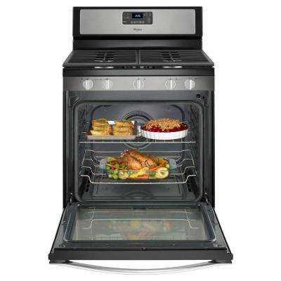 5.8 cu. ft. Gas Range with Self-Cleaning Convection Oven in Stainless Steel