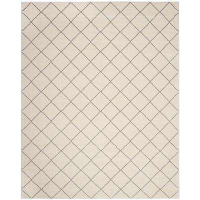 Tunisia Ivory/Light Gray 9 ft. x 12 ft. Area Rug