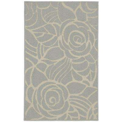 Rhapsody Silver/Ivory 3 ft. 4 in. x 5 ft. Accent Rug