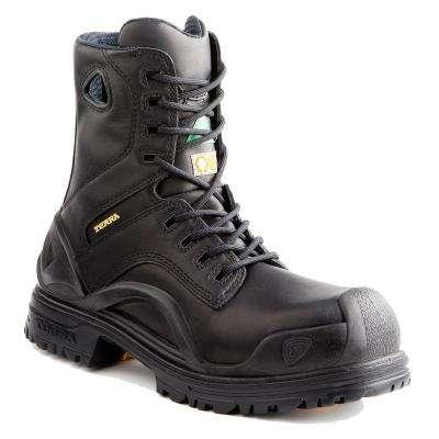 Bridge Men's Black Leather Work Boot