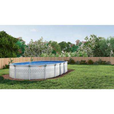 St. Lucia Oval Pool Package 52 in. D