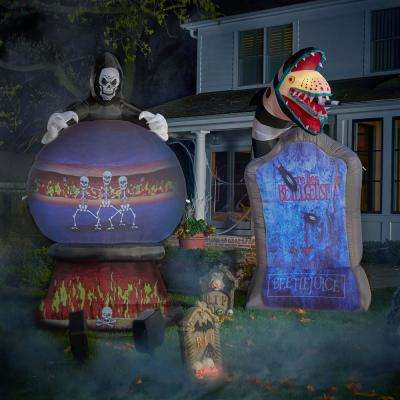 9 ft. Inflatable Living Projection Beetlejuice Tombstone WB Airblown