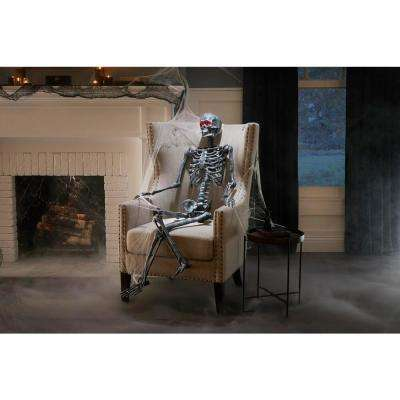 5 ft. LED Pose-N-Stay Ash Skeleton