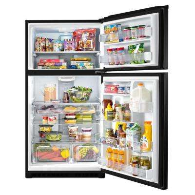 33 in. W 21 cu. ft. Top Freezer Refrigerator in Black