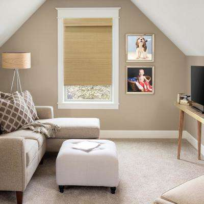Cordless Natural Multi-Weave Bamboo Roman Shade