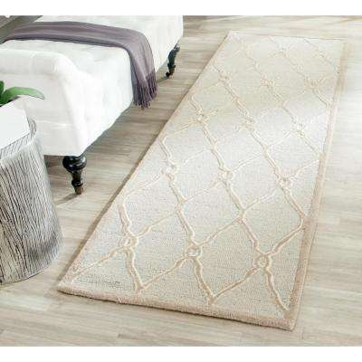 Cambridge Light Gray/Ivory 3 ft. x 10 ft. Runner Rug