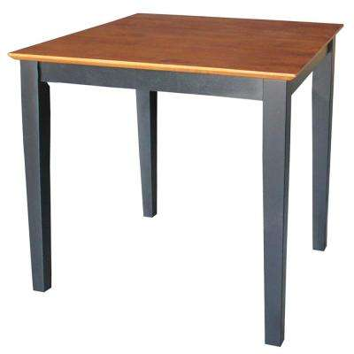 30 in. Square Shaker Table in Black and Cherry