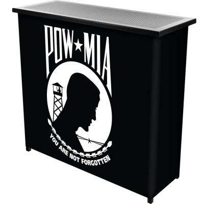 2-Shelf 39 in. L x 36 in. H POW Metal Portable Bar with Case