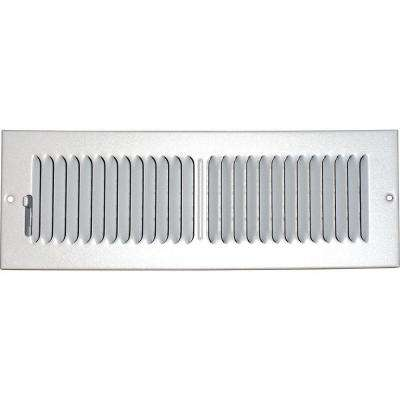 4 in. x 14 in. Ceiling/Sidewall Vent Register, White with 2-Way Deflection