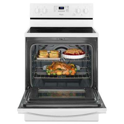 30 in. 5.3 cu. ft. Electric Range with Self-Cleaning Convection Oven in White