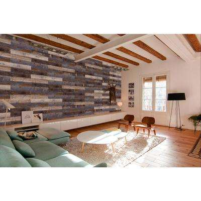 COLORS Floor and Wall DIY Samba Wood Aged 6 in. x 36 in. Multi-Tonal Glue Down Luxury Vinyl Plank (30 sq. ft. / case)