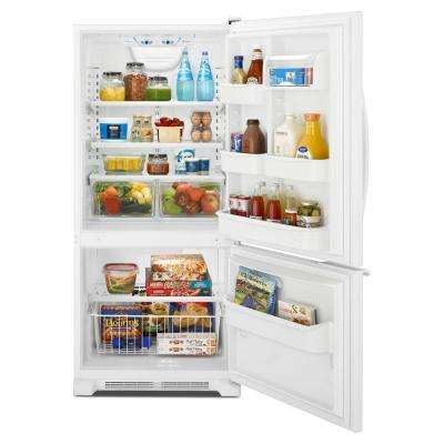 18.7 cu. ft. Bottom Freezer Refrigerator in White