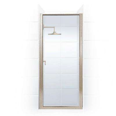 Paragon 30 in. to 30.75 in. x 70 in. Framed Continuous Hinged Shower Door in Brushed Nickel with Clear Glass