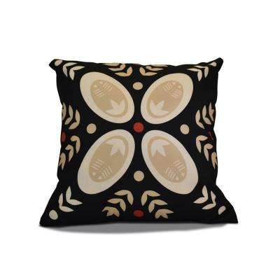16 in. Tradtion Holiday Pillow in Black