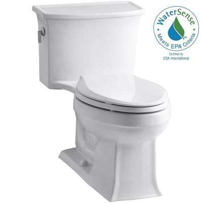 Archer 1-piece 1.28 GPF Single Flush Elongated Toilet in White