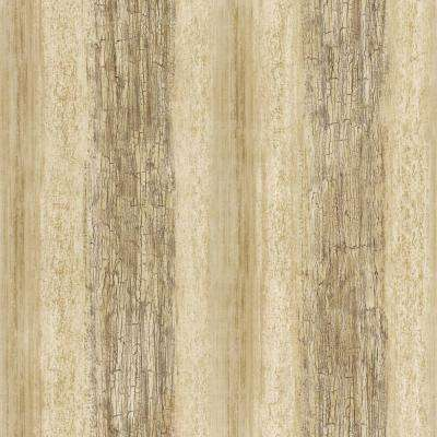 56 sq. ft. Brown and Beige Barn Board Wallpaper