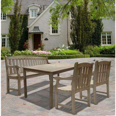 Renaissance Hand-Scraped Acacia 4-Piece Patio Dining Set