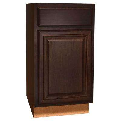 Assembled 18x34.5x24 in. Cambria Base Cabinet with Ball-Bearing Drawer Glides in Java