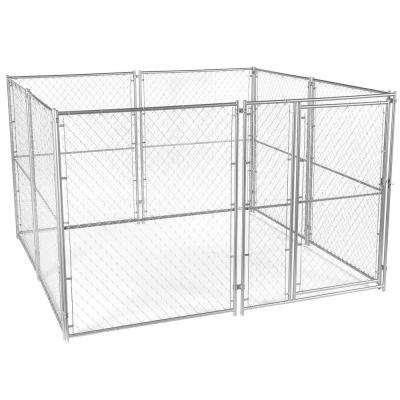 6 ft. H x 10 ft. W x 10 ft. L Modular Chain Link Kennel kit
