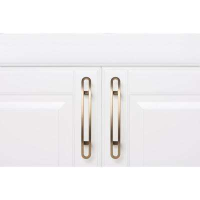 Aerial Series 3.75 in. Center-to-Center Satin Brass Sleek Wire Drawer Pull (6-Pack)