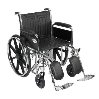 Sentra EC Heavy Duty Wheelchair with Full Arms, Elevating Leg Rests and 20 in. Seat