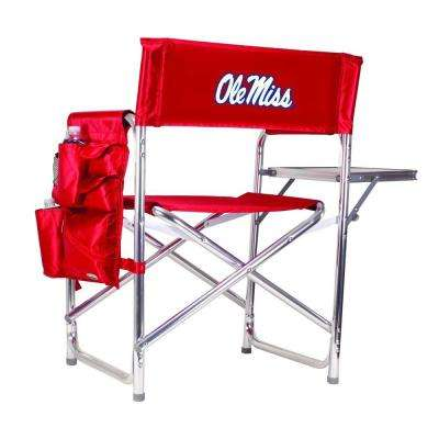University of Mississippi Red Sports Chair with Embroidered Logo