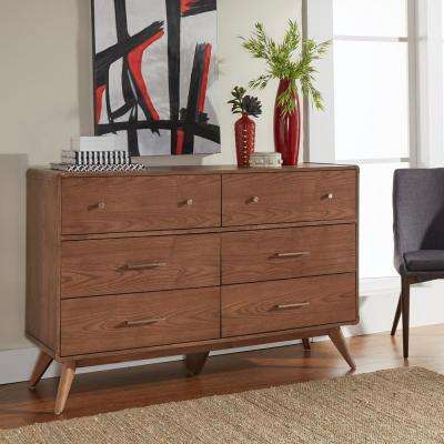 Holbrook 6-Drawer Chestnut Dresser
