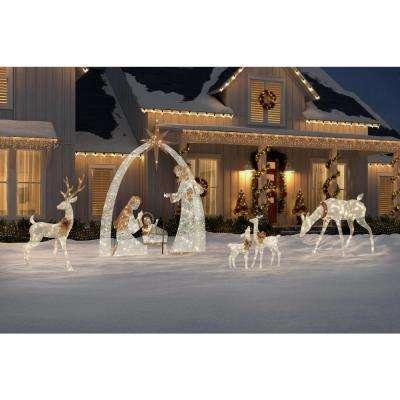 Sweet Serenity 120 in. 440-Light LED Giant Nativity Scene