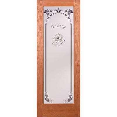 Exceptionnel Pantry Woodgrain 1 Lite Unfinished Cherry Interior Door Slab