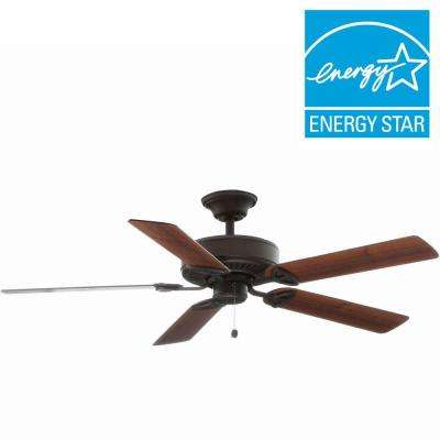 Farmington 52 in. Indoor Oil-Rubbed Bronze Ceiling Fan