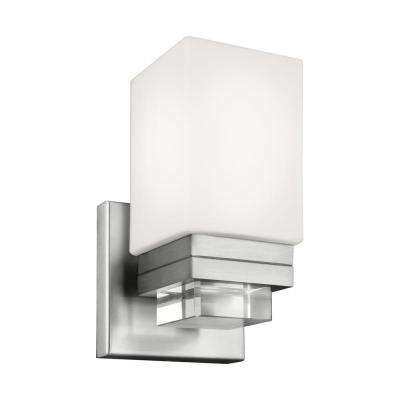 Maddison 1-Light Satin Nickel Wall Sconce