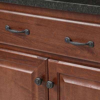 1-1/4 in. Black Cabinet Knob