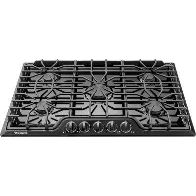 36 in. Gas Cooktop in Black with 5 Burners