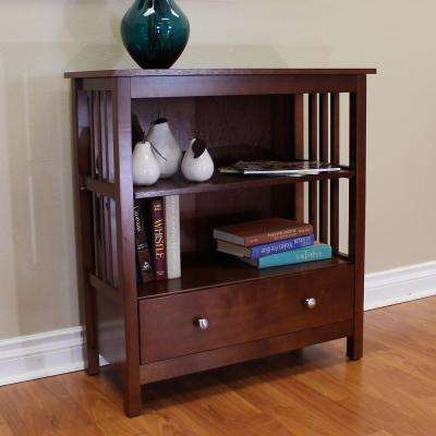 Hollydale 2-Shelf Bookcase in Chestnut