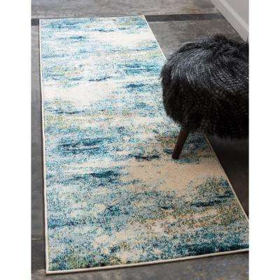 Chromatic Avalon Light Blue 2' 7 x 10' 0 Runner Rug