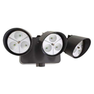 Bronze LED Outdoor Wall-Mount Flood Light with Photocell