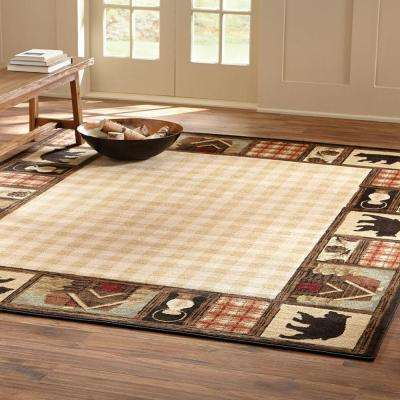 Mountain Top Beige 8 ft. x 10 ft. Area Rug