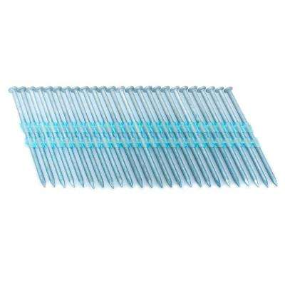 3.25 in. x 0.121 in. 20-Degree Ring Hot Dip Full Round Head Plastic Strip Nails 3000 per box